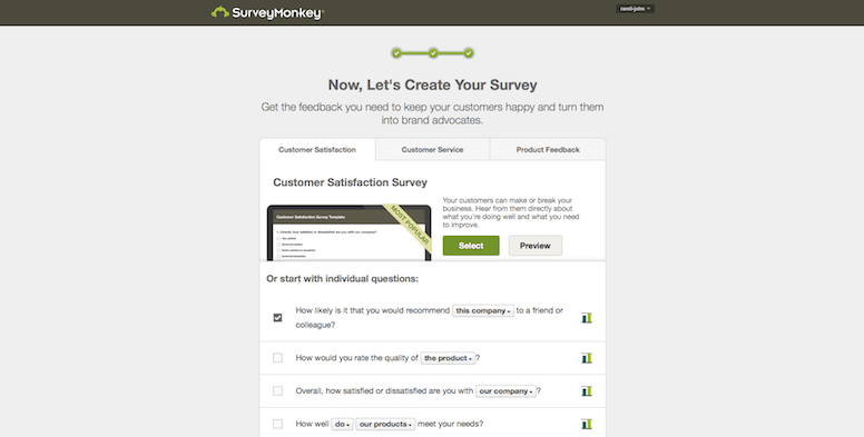 Survey Monkey 2